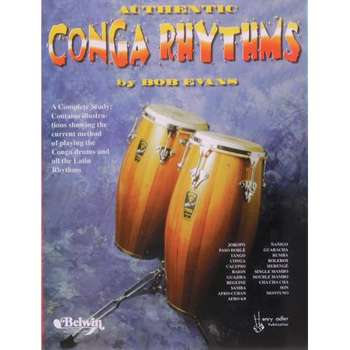 ALFRED PUBLISHING AUTHENTIC CONGA RHYTHMS REVISED - DRUMS & PERCUSSION