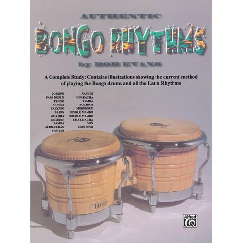 ALFRED PUBLISHING AUTHENTIC BONGO RHYTHMS REVISED - DRUMS & PERCUSSION