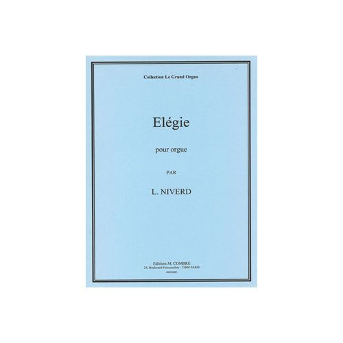 COMBRE NIVERD LUCIEN - ELEGIE - ORGUE