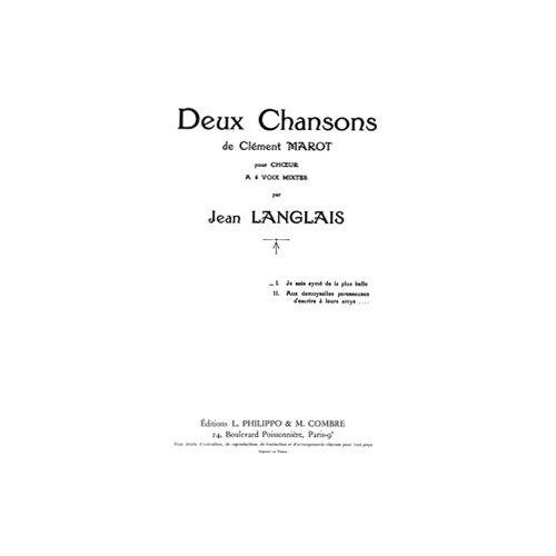 COMBRE LANGLAIS JEAN - CHANSONS (2) JE SUIS AYME DE LA PLUS BELLE - 4 VOIX MIXTES