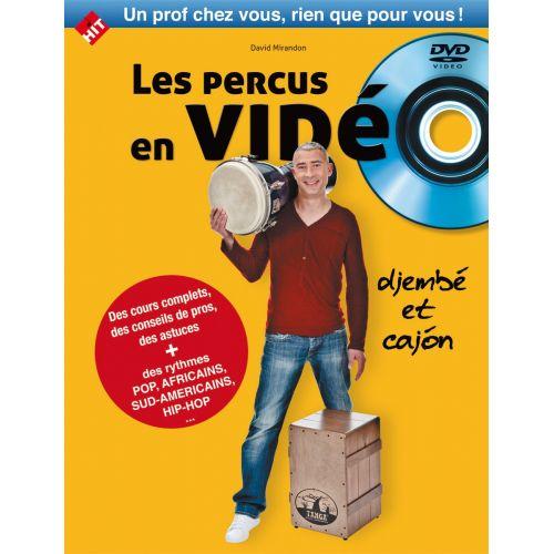 HIT DIFFUSION MIRANDON D. - LES PERCUS EN VIDEO LIVRE + DVD - DJEMBE ET CAJON