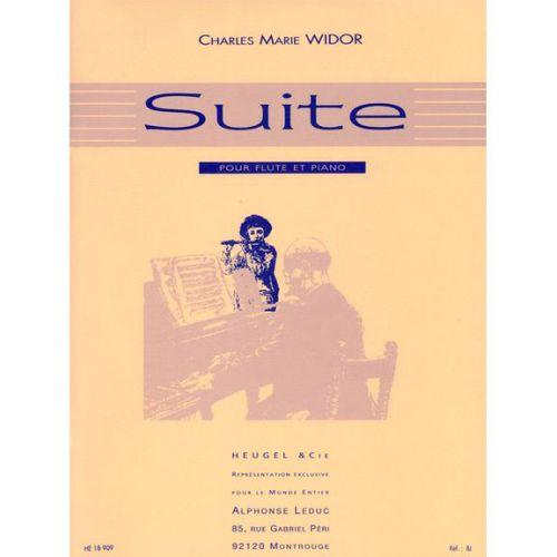 HEUGEL WIDOR CHARLES-MARIE - SUITE POUR FLUTE ET PIANO