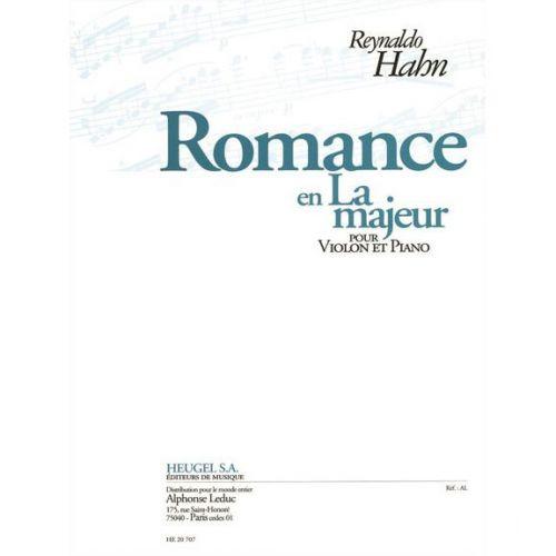 HEUGEL HAHN R. - ROMANCE EN LA MAJ. - VIOLON, PIANO