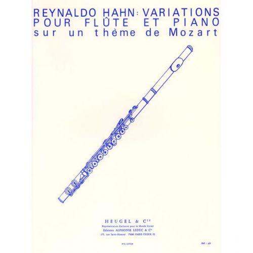 HEUGEL HAHN REYNALDO - VARIATIONS POUR FLUTE ET PIANO SUR UN THEME DE MOZART