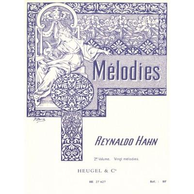HEUGEL HAHN R. - 20 MELODIES VOL.2 - VOIX MOYENNE ET PIANO