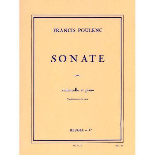 LEDUC POULENC F. - SONATE POUR VIOLONCELLE ET PIANO