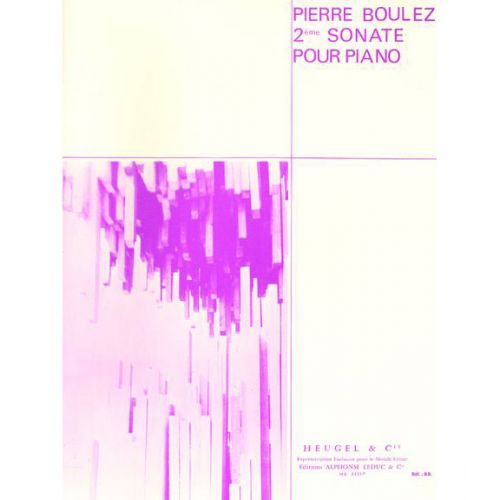 LEDUC BOULEZ P. - SONATE N° 2 - PIANO