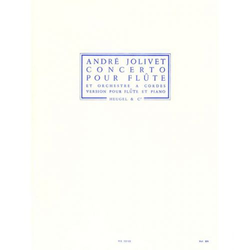 André Jolivet Flute Sheet Concerto For Flute And String Orchestra Flute//Piano