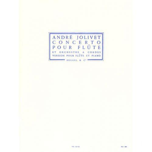 HEUGEL JOLIVET ANDRE - CONCERTO POUR FLUTE