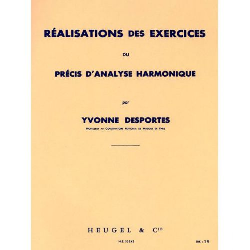LEDUC DESPORTES Y. - REALISATION DES EXERCICES DU PRECIS D'ANALYSE HARMONIQUE