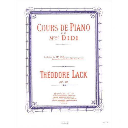 Heugel lack cours de piano de melle didi - Cours de piano montpellier ...