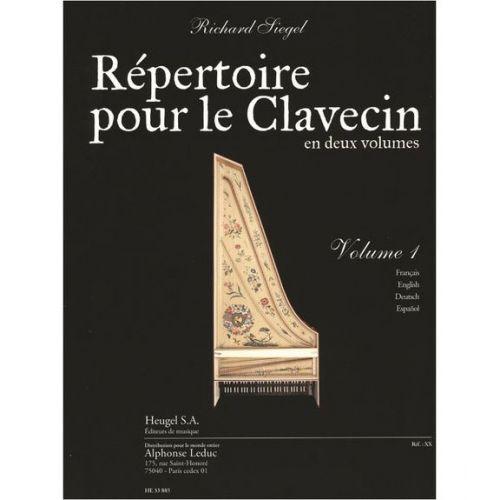 HEUGEL SIEGEL RICHARD - REPERTOIRE POUR LE CLAVECIN VOL.1