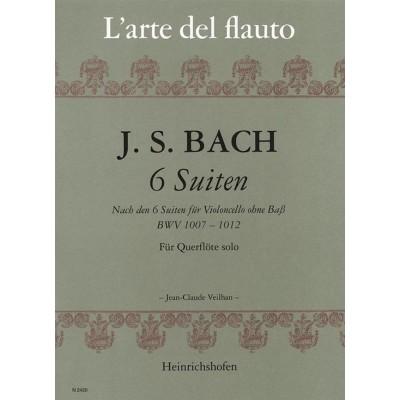HEINRICHSHOFEN BACH J.S. - SECHS SUITEN FUR QUERFLOTE SOLO - BWV 1007-1012