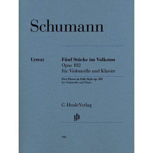 HENLE VERLAG SCHUMANN R - FUNF STUCKE IM VOLKSTON OP. 102 - VIOLONCELLE & PIANO