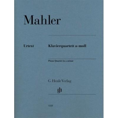 HENLE VERLAG MAHLER G. - PIANO QUARTET A MINOR