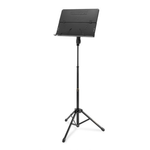 HERCULES STANDS QUIK-N-EZ THREE WAY HEIGHT ADJUSTMENT TRIPOD MUSIC STAND WITH FOLDING DESK BS408B
