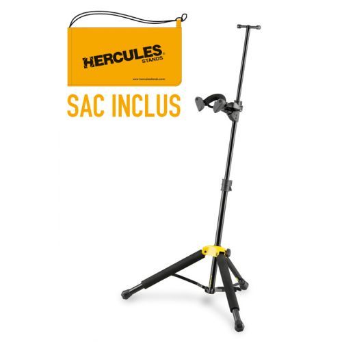 HERCULES STANDS TRAVLITE VIOLIN/VIOLA STAND (ALUMINUM) WITH BAG DS571BB