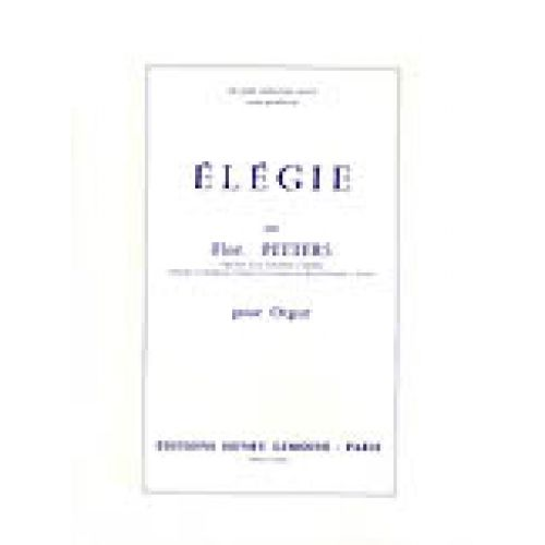 LEMOINE PEETERS FLOR - ELEGIE - ORGUE