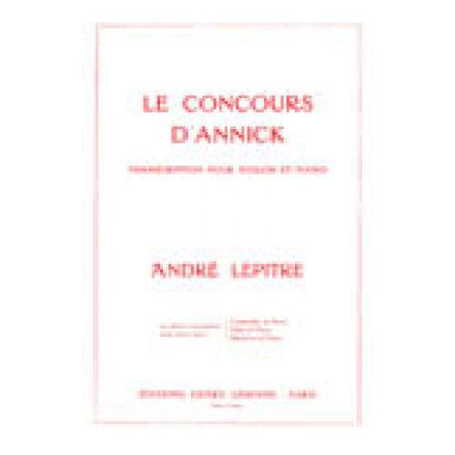 LEMOINE LEPITRE ANDRE - CONCOURS D'ANNICK - PIANO