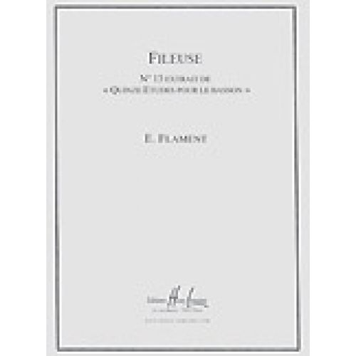 LEMOINE FLAMENT EDOUARD - FILEUSE - ETUDE N°13 EXTRAIT DES QUINZE ETUDES POUR LE BASSON - BASSON