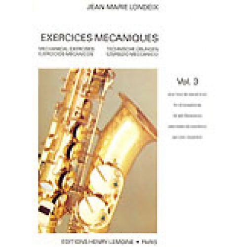 LEMOINE LONDEIX J.M. - EXERCICES MECANIQUES VOL.3 - SAXOPHONE