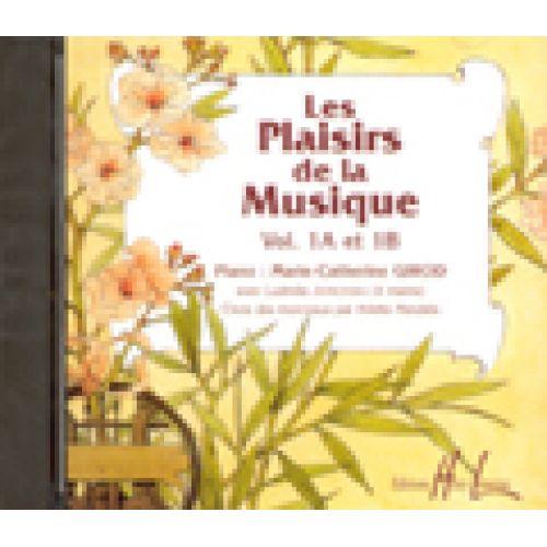 LEMOINE LES PLAISIRS DE LA MUSIQUE VOL.1A ET 1B - PIANO - CD SEUL