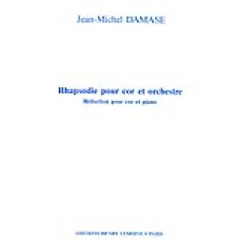 LEMOINE DAMASE JEAN-MICHEL - RHAPSODIE - COR, PIANO