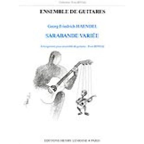 LEMOINE HAENDEL G.F. - SARABANDE VARIEE - 5 GUITARES