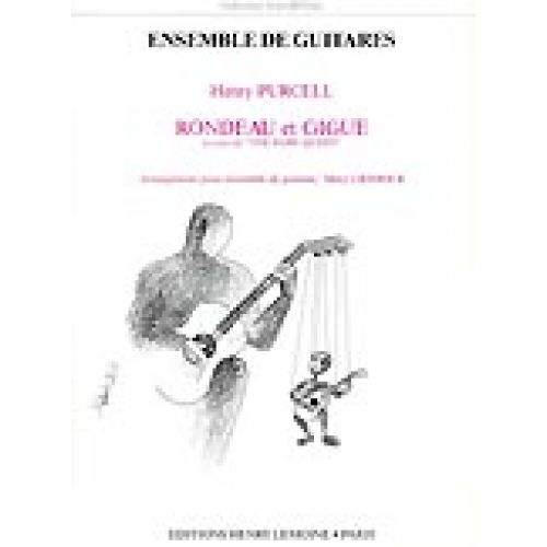 LEMOINE PURCELL H. - RONDEAU ET GIGUE - 5 GUITARES