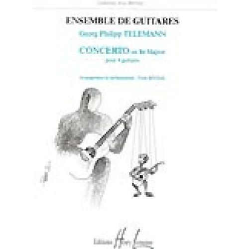 LEMOINE TELEMANN G.P. - CONCERTO EN RE MAJ. - 4 GUITARES