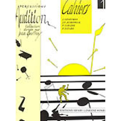 LEMOINE GEOFFROY JEAN - AUDITION VOL.1 - PERCUSSION
