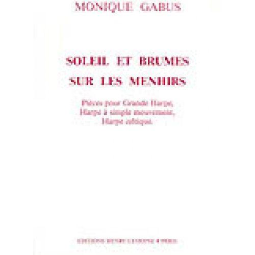 LEMOINE GABUS MONIQUE - SOLEIL ET BRUMES SUR MENHIRS - HARPE