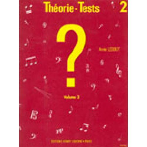 LEMOINE LEDOUT ANNIE - THEORIE-TESTS VOL.2