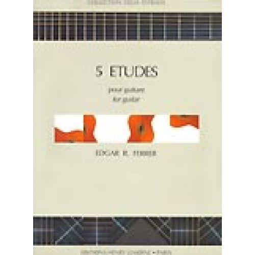 LEMOINE FERRER EDGAR R. - ETUDES (5) - GUITARE
