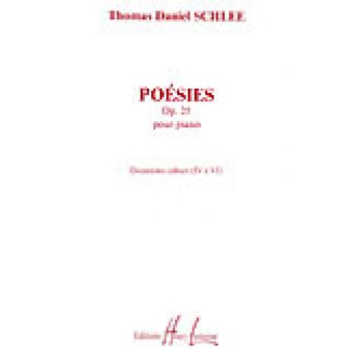 LEMOINE SCHLEE THOMAS DANIEL - POÉSIES II OP.25 - PIANO