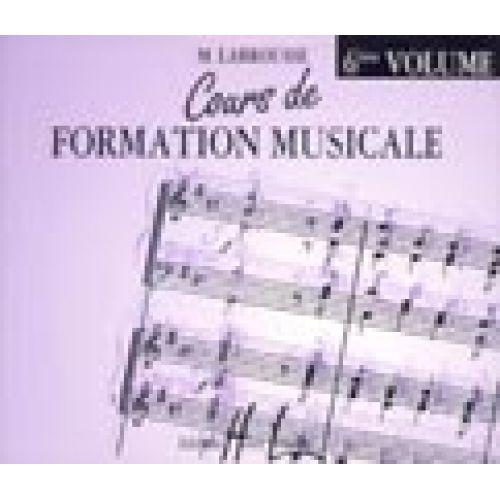 LEMOINE LABROUSSE MARGUERITE - COURS DE FORMATION MUSICALE VOL.6 - CD SEUL