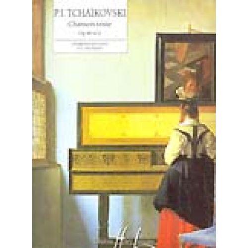 LEMOINE TCHAIKOVSKY PETR-ILITCH - CHANSON TRISTE OP.40 N°2 - PIANO