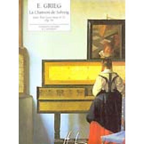LEMOINE GRIEG E. - CHANSON DE SOLVEIG EXTRAIT DE PEER GYNT OP.55 N°2 - PIANO