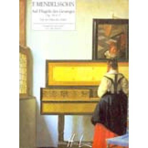 LEMOINE MENDELSSOHN F. - SUR LES AILES DU CHANT - AUF FLUGELN DES GESANGES OP.34 N°2 - PIANO