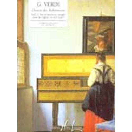 LEMOINE VERDI GIUSEPPE - VEDI, LE FOSCHE... CHOEUR DES BOHÉMIENS EXTRAIT DU TROUVÈRE - PIANO
