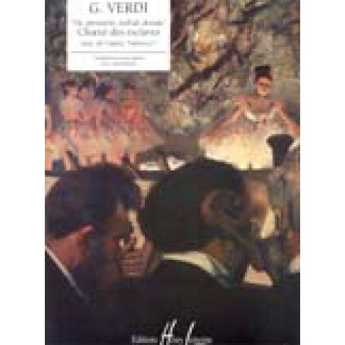 LEMOINE VERDI GIUSEPPE - VA PENSIERO... CHOEUR DES ESCLAVES EXTRAIT DE NABUCCO - PIANO