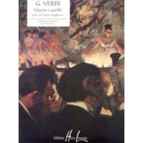 LEMOINE VERDI GIUSEPPE - QUESTA O QUELLA EXTRAIT DE RIGOLETTO - PIANO