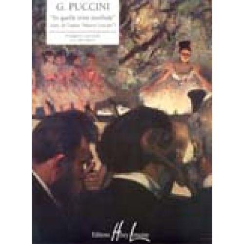 LEMOINE PUCCINI GIACOMO - IN QUELLE TRINE MORBIDE EXTRAIT DE MANON LESCAUT - PIANO