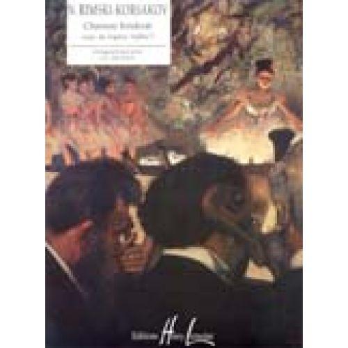 LEMOINE RIMSKY-KORSAKOV N. - CHANSON HINDOUE EXTRAIT DE SADKO - PIANO