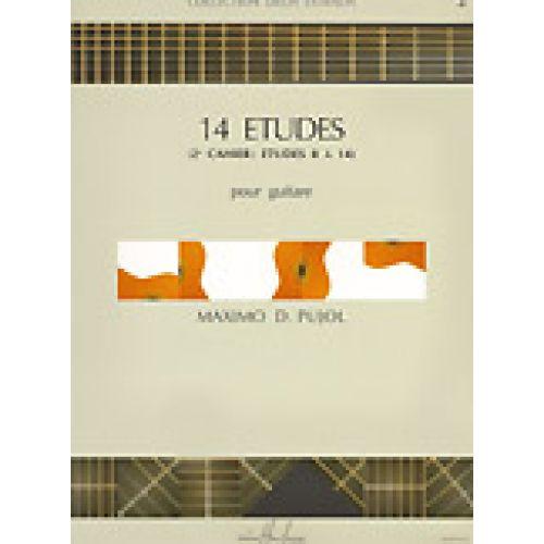 LEMOINE PUJOL MAXIMO-DIEGO - ETUDES (14) VOL.2 - GUITARE