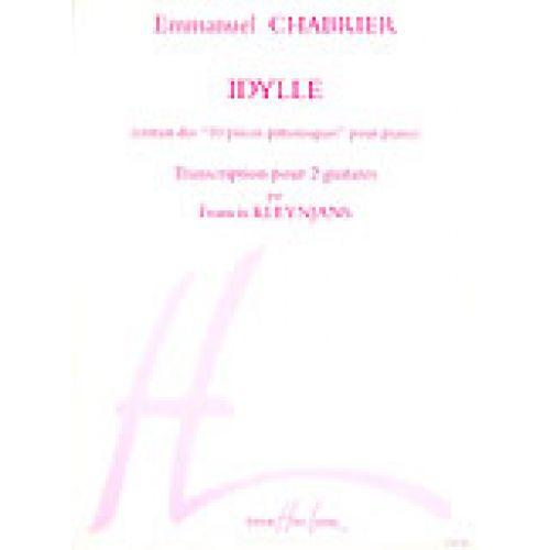 LEMOINE CHABRIER EMMANUEL - IDYLLE - 2 GUITARES
