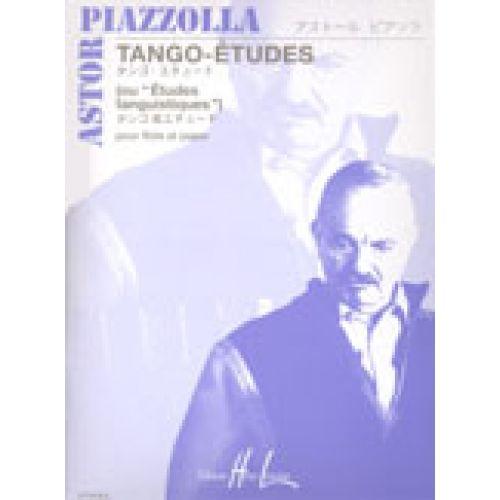 LEMOINE PIAZZOLLA ASTOR - TANGO - ETUDES (6) - FLUTE, PIANO