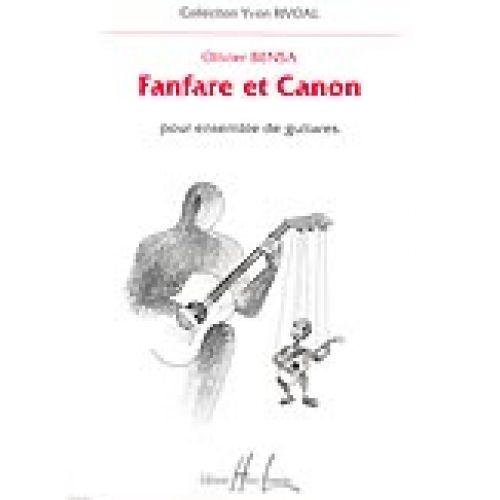 LEMOINE BENSA OLIVIER - FANFARE ET CANON - ENSEMBLE DE GUITARES