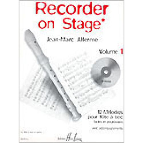 LEMOINE ALLERME JEAN-MARC - RECORDER ON STAGE VOL.1 + CD - FLUTE A BEC