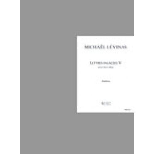 LEMOINE LEVINAS MICHAEL - LETTRES ENLACEES V - 2 ALTOS